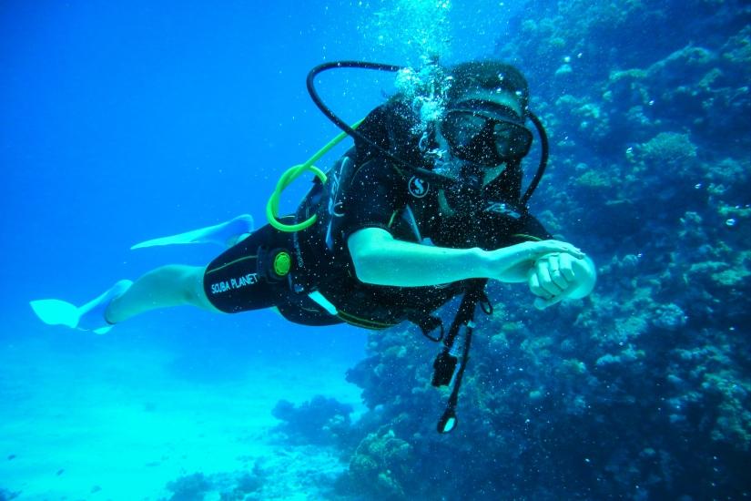 Mar Vermelho: meu primeiro mergulho comcilindro